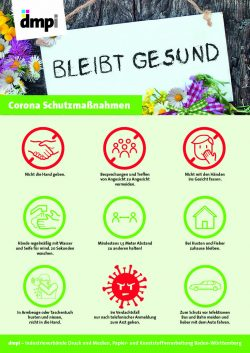 Plakat Corona-Schutzmaßnahmen